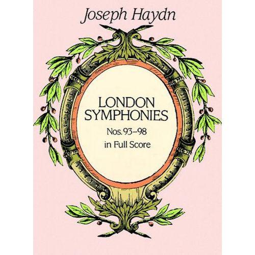 DOVER HAYDN F.J. - COMPLETE LONDON SYMPHONIES N°93-98 - FULL SCORE