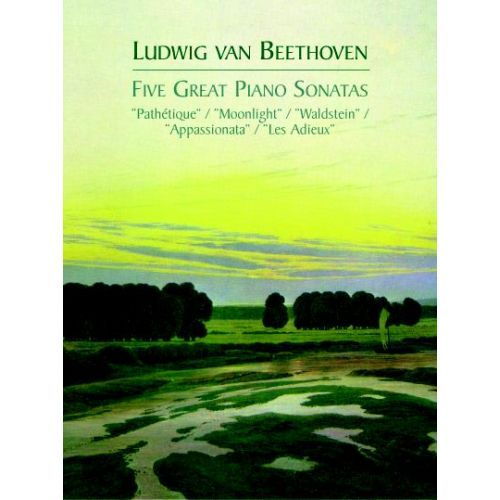 DOVER BEETHOVEN L.VAN - FIVE GREAT PIANO SONATAS - PIANO