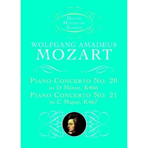 DOVER MOZART W.A. - PIANO CONCERTOS N°20 K466 ET 21 K467 - FULL SCORE