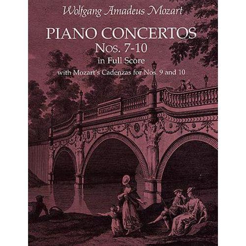 DOVER MOZART W.A. - PIANO CONCERTO N°7-10 - FULL SCORE
