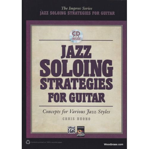 ALFRED PUBLISHING BUONO CH. - JAZZ SOLOING STRAGEGIES - GUITARE + CD