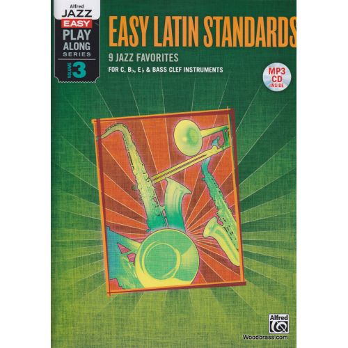 ALFRED PUBLISHING JAZZ EASY PLAY-ALONG SERIES, VOL. 3 : EASY LATIN - TOUS INSTRUMENTS + CD