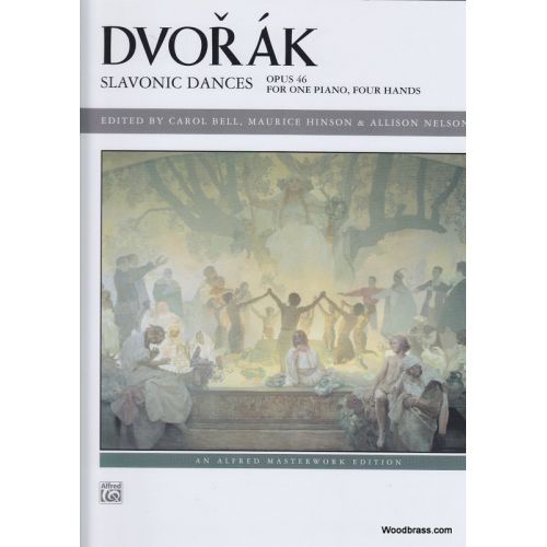 ALFRED PUBLISHING DVORAK A. - SLAVONIC DANCES OP. 46 - PIANO 4 MAINS