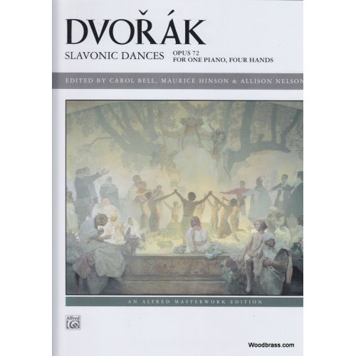 ALFRED PUBLISHING DVORAK A. - SLAVONIC DANCES OP. 72 - PIANO 4 MAINS
