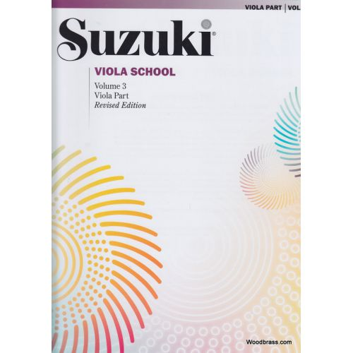 ALFRED PUBLISHING SUZUKI VIOLA SCHOOL VIOLA PART VOL.3 REV. EDITION