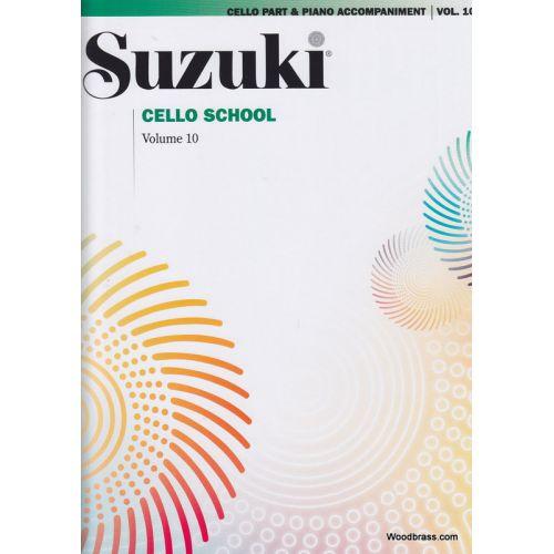 ALFRED PUBLISHING SUZUKI CELLO SCHOOL VOL. 10 (AVEC ACCOMPAGNEMENT DE PIANO)
