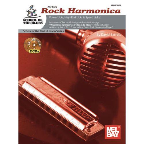 MEL BAY BARRETT DAVID - ROCK HARMONICA METHOD - HARMONICA