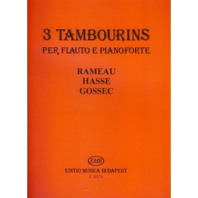EMB (EDITIO MUSICA BUDAPEST) 3 TAMBOURINS - FLUTE & PIANO
