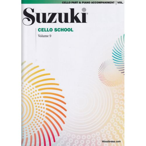 ALFRED PUBLISHING SUZUKI CELLO SCHOOL VOL. 9 - (AVEC ACCOMPAGNEMENT DE PIANO)