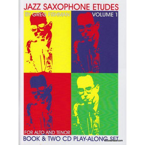 JAZZ STUDIO FISHMAN G. - JAZZ SAXOPHONE eTUDES VOL. 1 + 2 CD'S