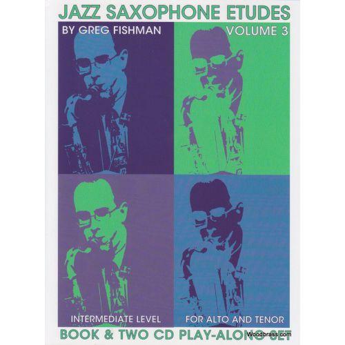 JAZZ STUDIO FISHMAN G. - JAZZ SAXOPHONE ETUDES VOL. 3 + 2 CD'S
