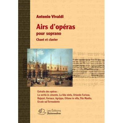 LES EDITIONS BUISSONNIERES VIVALDI ANTONIO - RECUEILS D'AIRS D'OPERA POUR SOPRANO - CHANT & PIANO