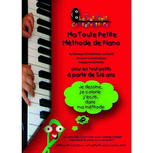 LE TOUT PETIT CONSERVATOIRE KACZMAREK - MA TOUTE PETITE METHODE DE PIANO 5-6 ANS