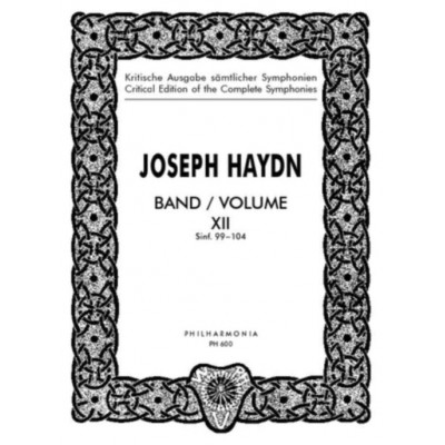 UNIVERSAL EDITION HAYDN J. - SYMPHONIE Nos. 99-104 FOR ORCHESTRA