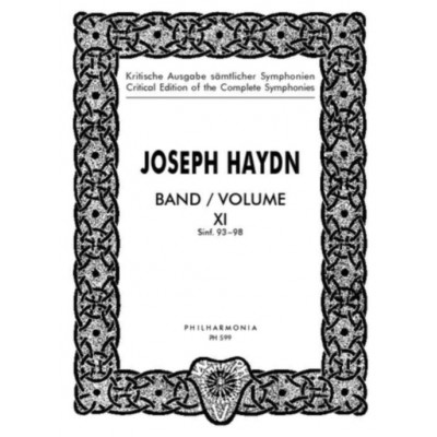 UNIVERSAL EDITION HAYDN J. - SYMPHONIE Nos. 93-98 FOR ORCHESTRA