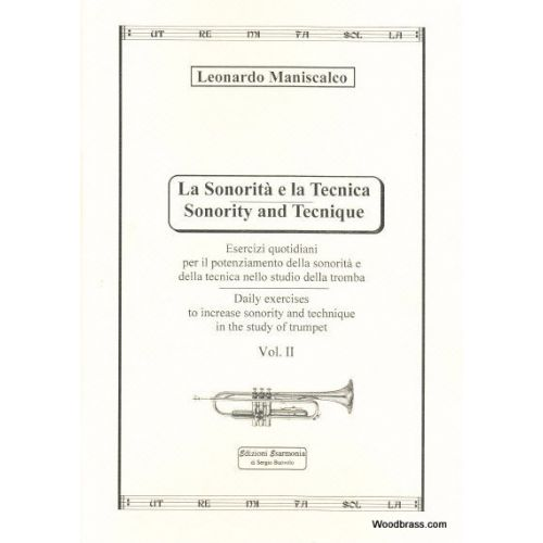 EDIZIONI ESARMONIA MANISCALCO L. - SONORITY AND TECHNIQUE VOL. 2 - TROMPETTE