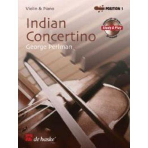 DEHASKE PERLMAN G. - INDIAN CONCERTINO - VIOLON ET PIANO + CD