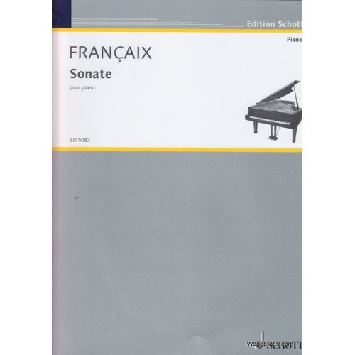 SCHOTT FRANCAIX JEAN - SONATA FOR PIANO - PIANO