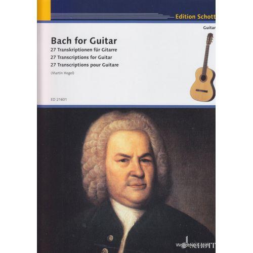 SCHOTT BACH J.S. - BACH FOR GUITAR - GUITARE