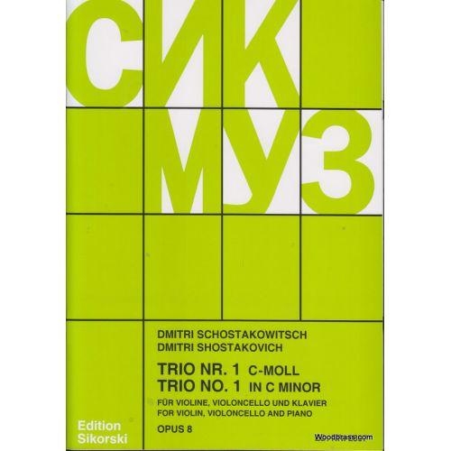SIKORSKI CHOSTAKOVITCH - TRIO N 1 OP. 8 - VIOLON, VIOLONCELLE, PIANO