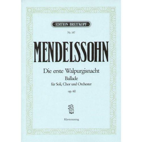 EDITION BREITKOPF MENDELSSOHN BARTHOLDY F. - DIE ERSTE WALPURGISNACHT OP.60