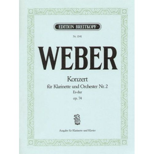 EDITION BREITKOPF WEBER C.M.V. - KLARINETTENKONZERT 2 ES-DUR