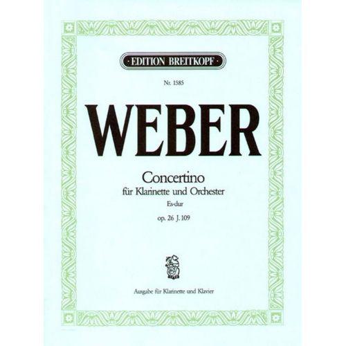 EDITION BREITKOPF WEBER C.M.V. - CONCERTINO ES-DUR OP. 26