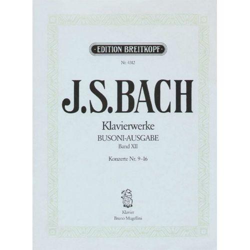 EDITION BREITKOPF BACH JOHANN SEBASTIAN - KONZERTE VERSCH. MEISTERN 9-16 - PIANO