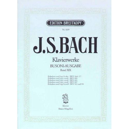 EDITION BREITKOPF BACH JOHANN SEBASTIAN - PRALUDIEN UND FUGEN - PIANO