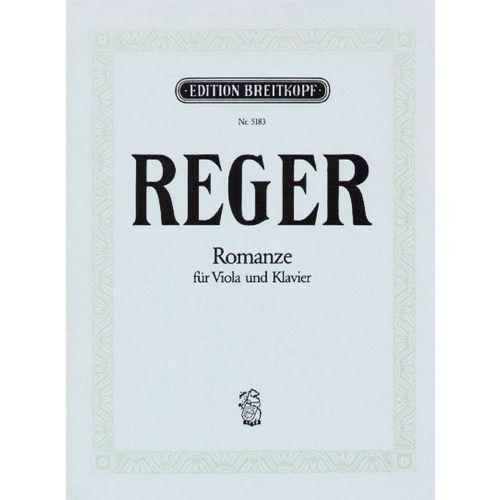 EDITION BREITKOPF REGER MAX - ROMANZE G-DUR - VIOLA, PIANO