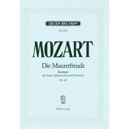 EDITION BREITKOPF MOZART W.A. - DIE MAURERFREUDE ES-DUR KV 471