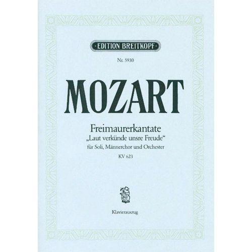 EDITION BREITKOPF MOZART W.A. - FREIMAURERKANTATE KV 623