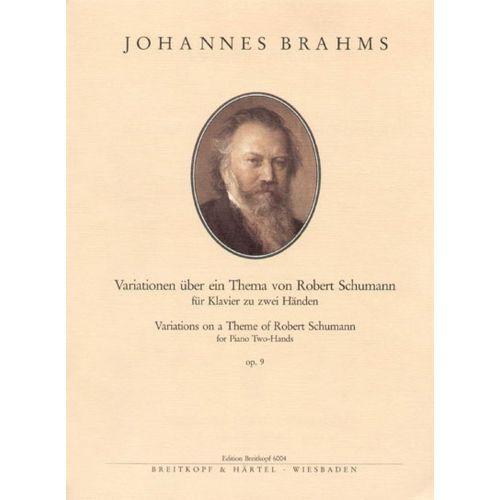 EDITION BREITKOPF BRAHMS JOHANNES - SCHUMANN-VARIATIONEN OP. 9 - PIANO