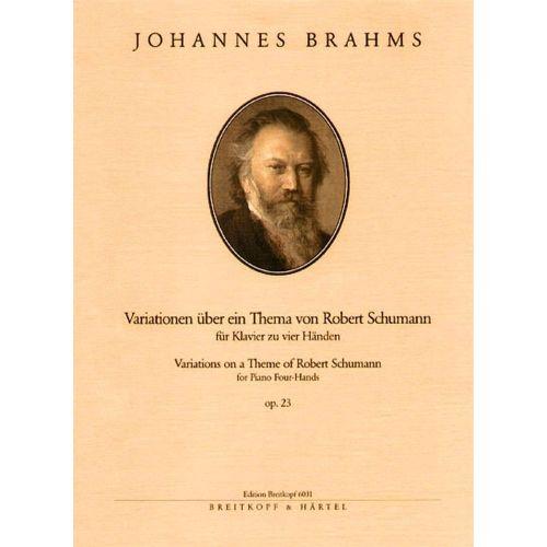 EDITION BREITKOPF BRAHMS JOHANNES - VARIATIONEN OP. 23 - PIANO