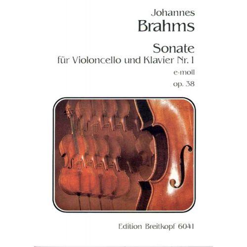 EDITION BREITKOPF BRAHMS J. - SONATE NR. 1 E-MOLL OP. 38