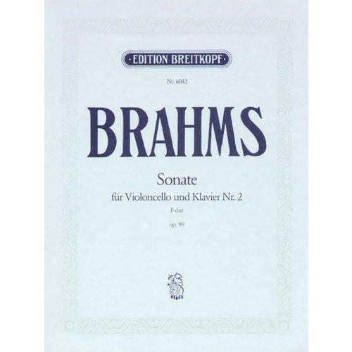 EDITION BREITKOPF BRAHMS J. - SONATE NR. 2 F-DUR OP. 99