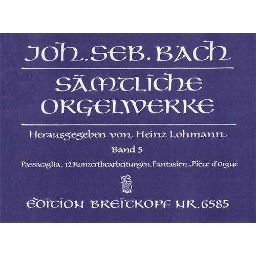 EDITION BREITKOPF BACH J.S. - SAMTLICHE ORGELWERKE, BAND 5