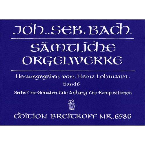 EDITION BREITKOPF BACH J.S. - SAMTLICHE ORGELWERKE, BAND 6
