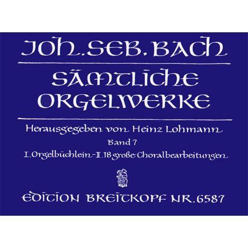 EDITION BREITKOPF BACH J.S. - SAMTLICHE ORGELWERKE, BAND 7