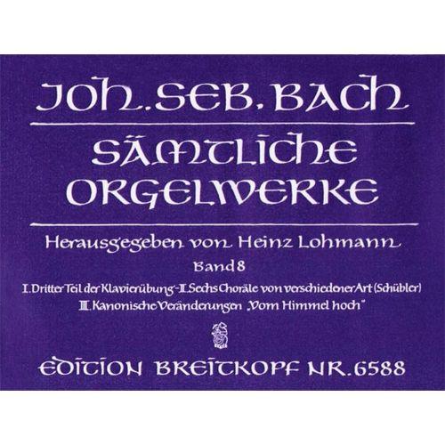 EDITION BREITKOPF BACH J.S. - SAMTLICHE ORGELWERKE, BAND 8