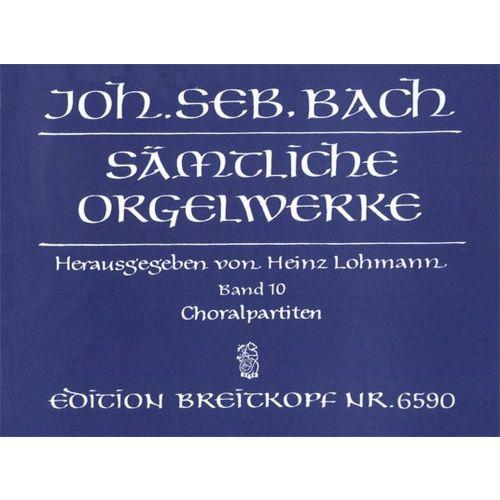 EDITION BREITKOPF BACH J.S. - SAMTLICHE ORGELWERKE, BAND 10