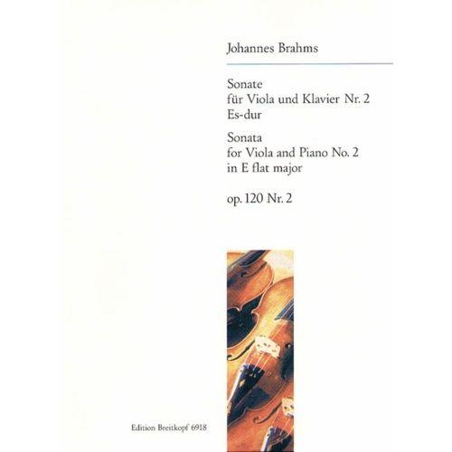 EDITION BREITKOPF BRAHMS J. - SONATE NR. 2 ES-DUR OP. 120/2