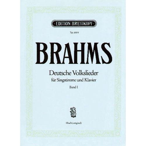 EDITION BREITKOPF BRAHMS J. - DEUTSCHE VOLKSLIEDER, BAND 1