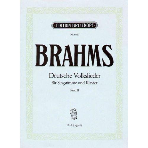 EDITION BREITKOPF BRAHMS J. - DEUTSCHE VOLKSLIEDER, BAND 2