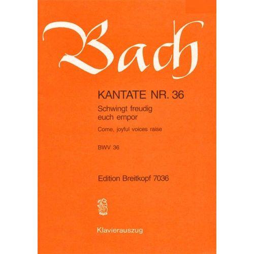 EDITION BREITKOPF BACH J.S. - KANTATE 36 SCHWINGT FREUDIG