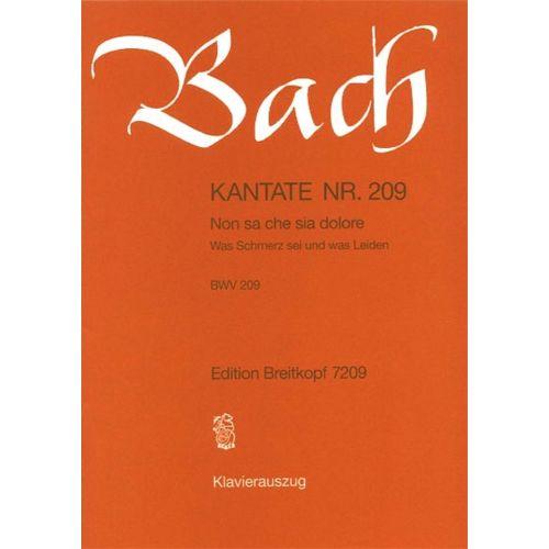 EDITION BREITKOPF BACH J.S. - KANTATE 209 NON SA CHE SIA DOL