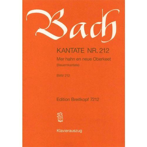 EDITION BREITKOPF BACH J.S. - KANTATE 212 MER HAHN EN NEUE