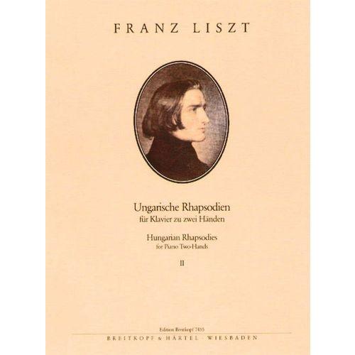 EDITION BREITKOPF LISZT FRANZ - UNGARISCHE RHAPSODIEN NR. 8-13 - PIANO