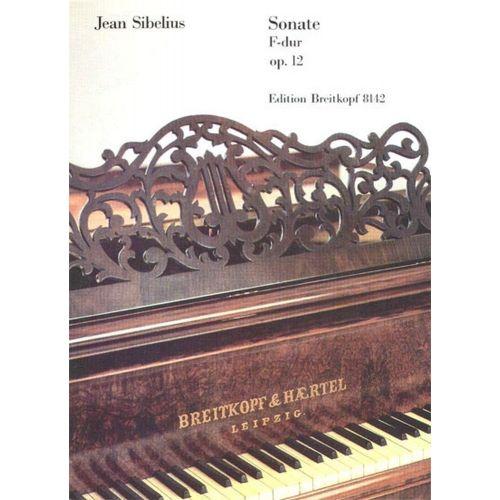 EDITION BREITKOPF SIBELIUS JEAN - SONATE F-DUR OP. 12 - PIANO