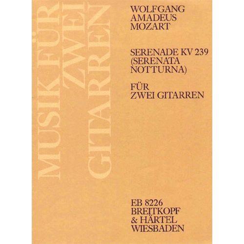 EDITION BREITKOPF MOZART WOLFGANG AMADEUS - SERENADE D-DUR KV 239 - 2 GUITAR